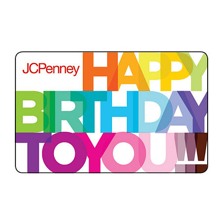 Colorful Happy Birthday Gift Card, One Size , No Color Family