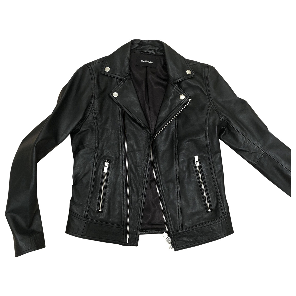 The Kooples \N Black Leather jacket for Women XXS International
