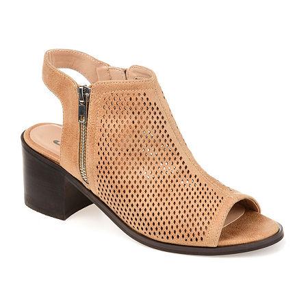Journee Collection Womens Tibella Booties Block Heel, 5 1/2 Medium, Gray