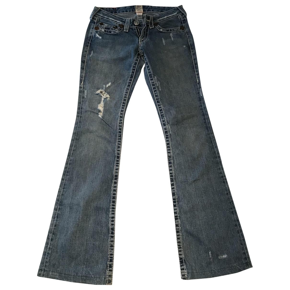 True Religion \N Blue Denim - Jeans Jeans for Women 26 US