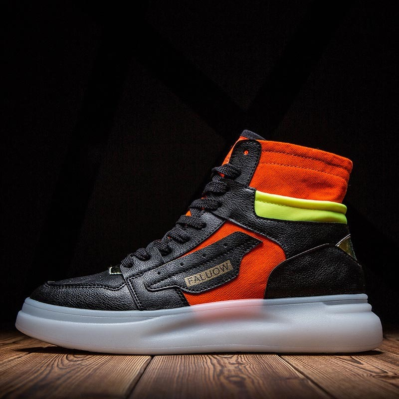 Ericdress Color Block High-Cut Upper Round Toe Men's Skate Shoes