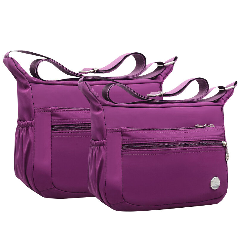 Women Nylon Waterproof Crossbody Bags Multi-slots Leisure Lightweight Shoulder Bags