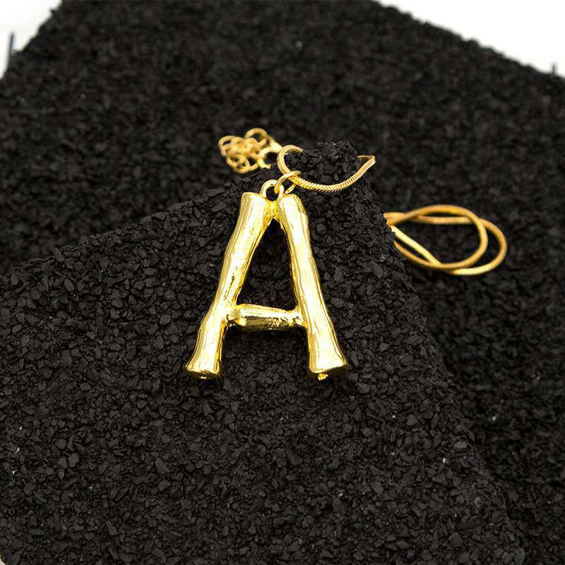 Statement Pendant Gold Necklace 26 Letters Charm Chain Sister Necklace Fashion Jewelry for Women