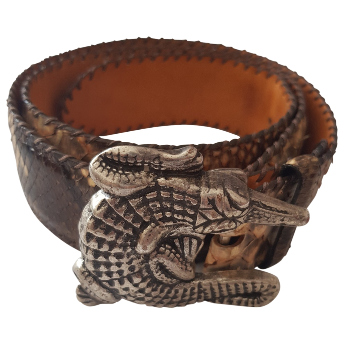 Reptile's House \N Python belt for Women 95 cm