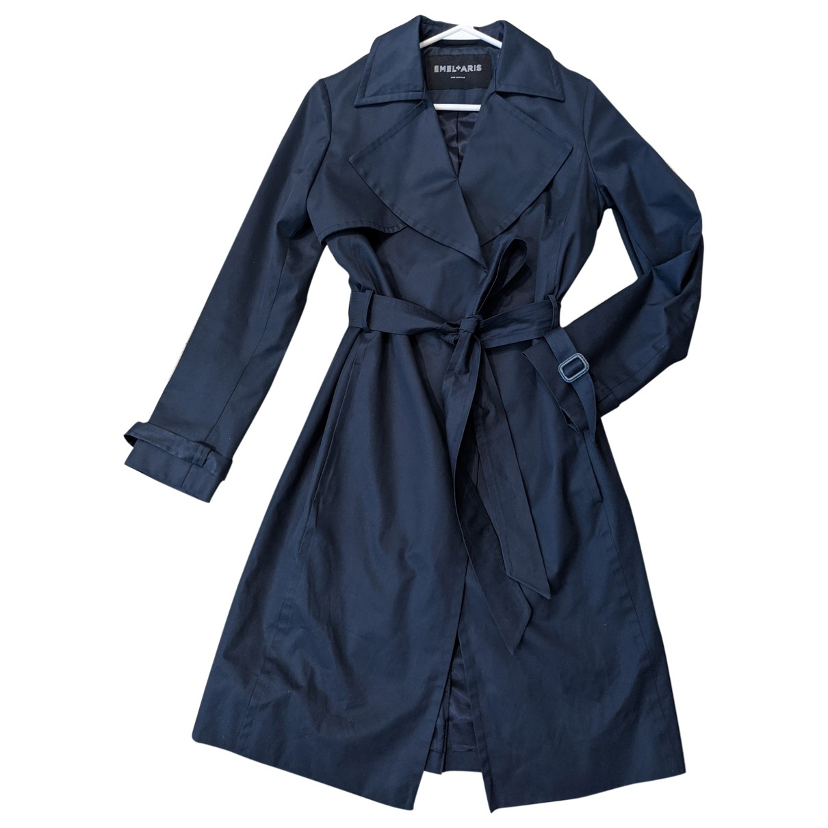 Non Signé / Unsigned \N Blue Cotton coat for Women 10 UK