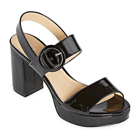 CL by Laundry Womens Gwenn Pumps Block Heel, 7 1/2 Medium, Black