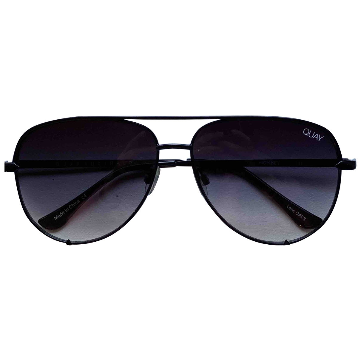 Quay \N Black Metal Sunglasses for Women \N