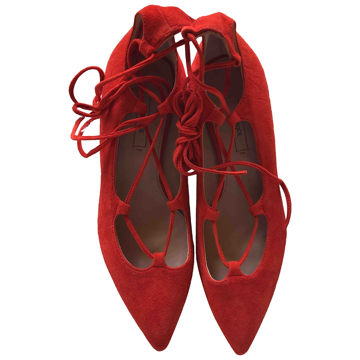 Uterque \N Red Suede Heels for Women 36 EU