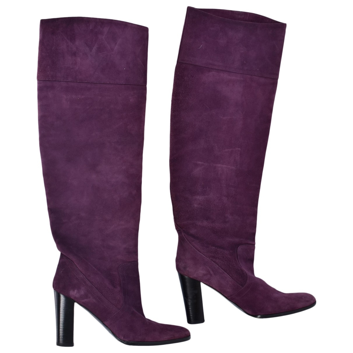 Non Signé / Unsigned \N Purple Suede Boots for Women 36 EU