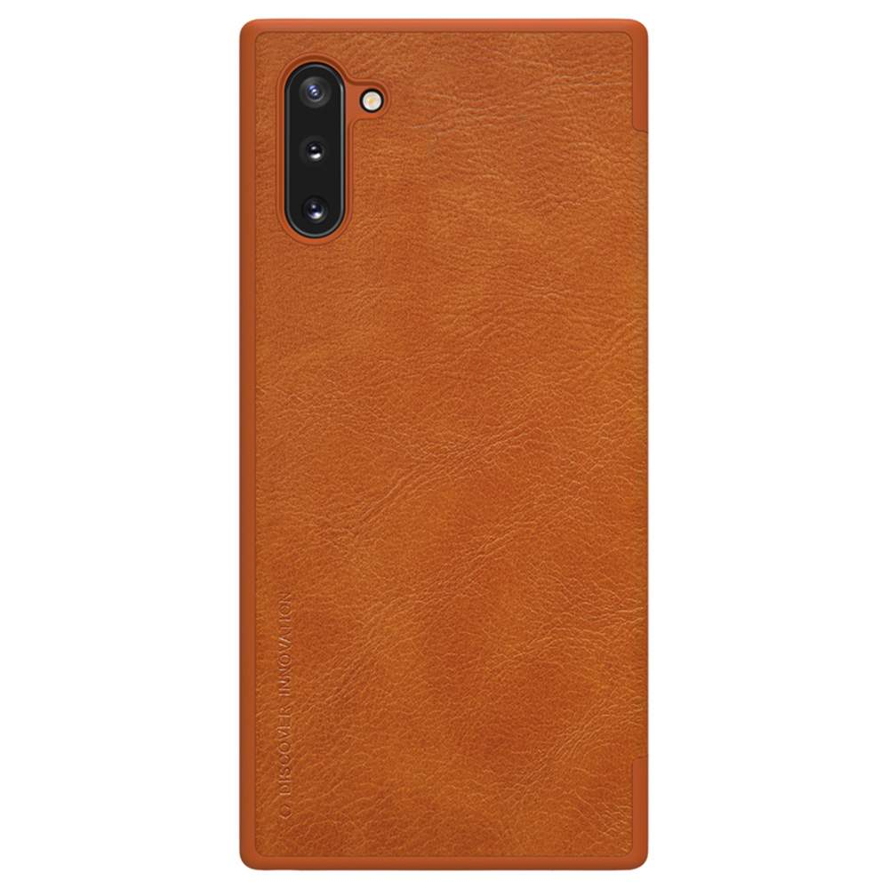 NILLKIN Protective Leather Phone Case For Samsung Galaxy Note 10 / Note 10 5G Smartphone - Brown