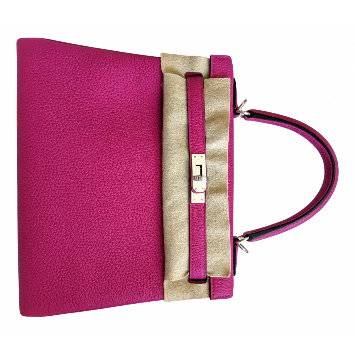 Hermès Kelly 25 Pink Leather handbag for Women \N