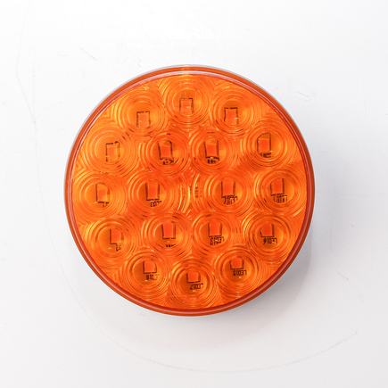 Hd Value HDV4002Y - 4 Round F/P/T Amber 18 Led; 3 Core Connector