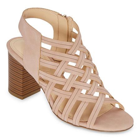 Liz Claiborne Womens Teagan Heeled Sandals, 11 Medium, Pink