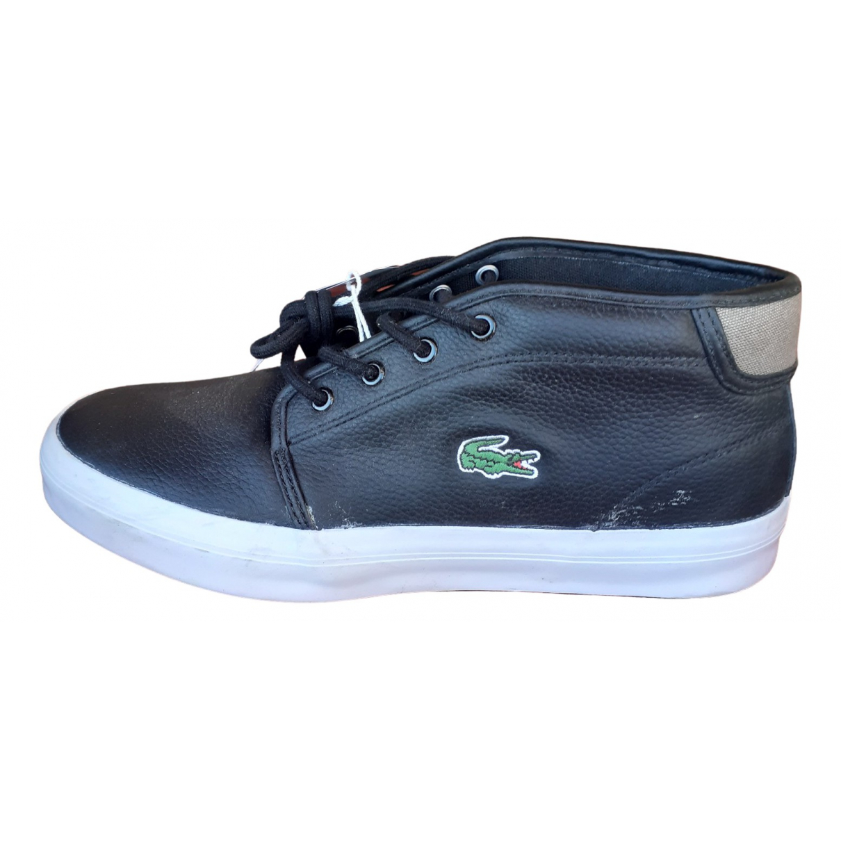 Lacoste \N Black Leather Trainers for Men 40.5 EU
