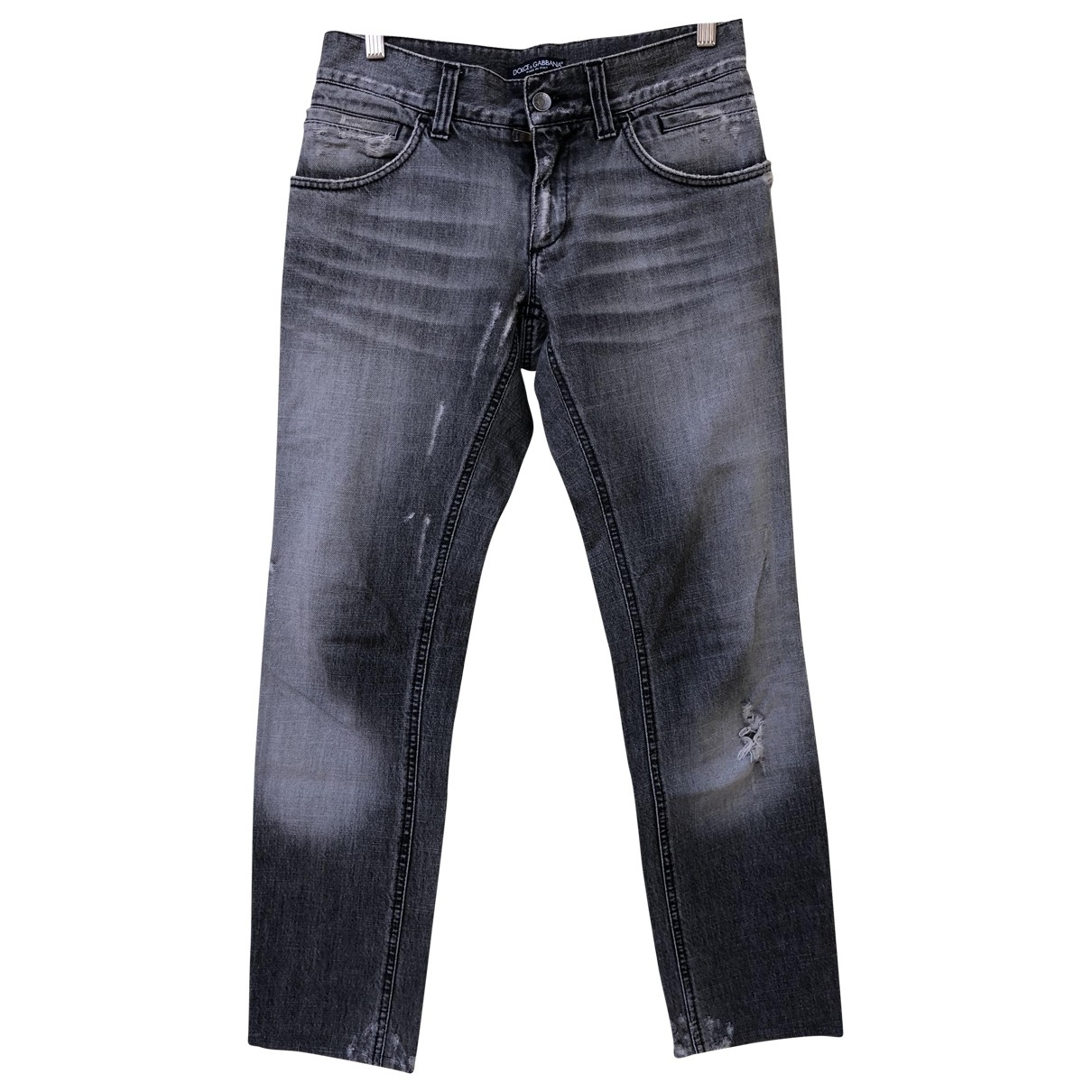 Dolce & Gabbana \N Grey Denim - Jeans Trousers for Men 44 IT