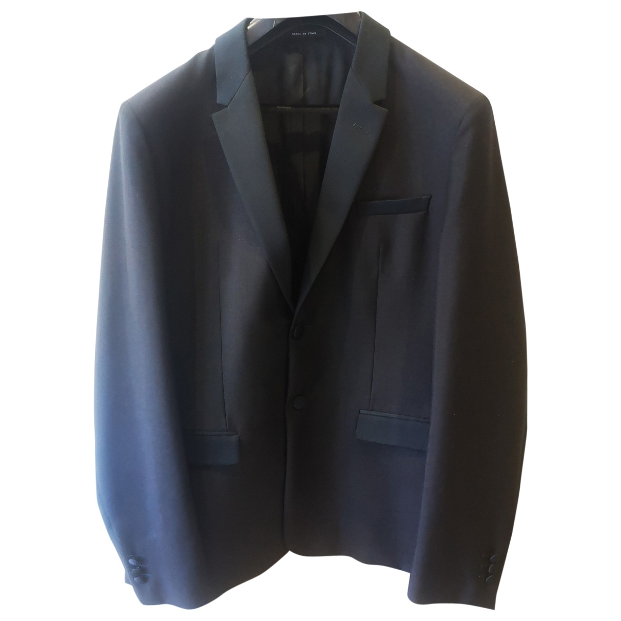 Emporio Armani \N Black Wool Suits for Men 54 IT