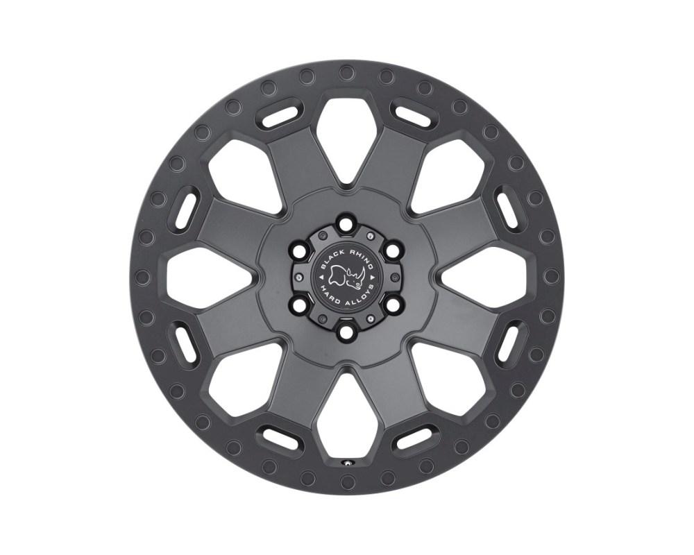 Black Rhino Warlord Matte Gunmetal Wheel 20x9 5x150 12mm CB110.1