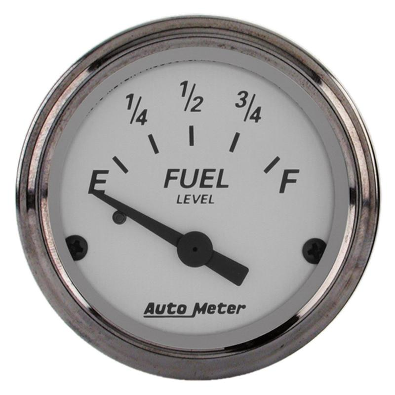 AutoMeter GAUGE; FUEL LEVEL; 2 1/16in.; 73OE TO 10OF; ELEC; AMERICAN PLATINUM
