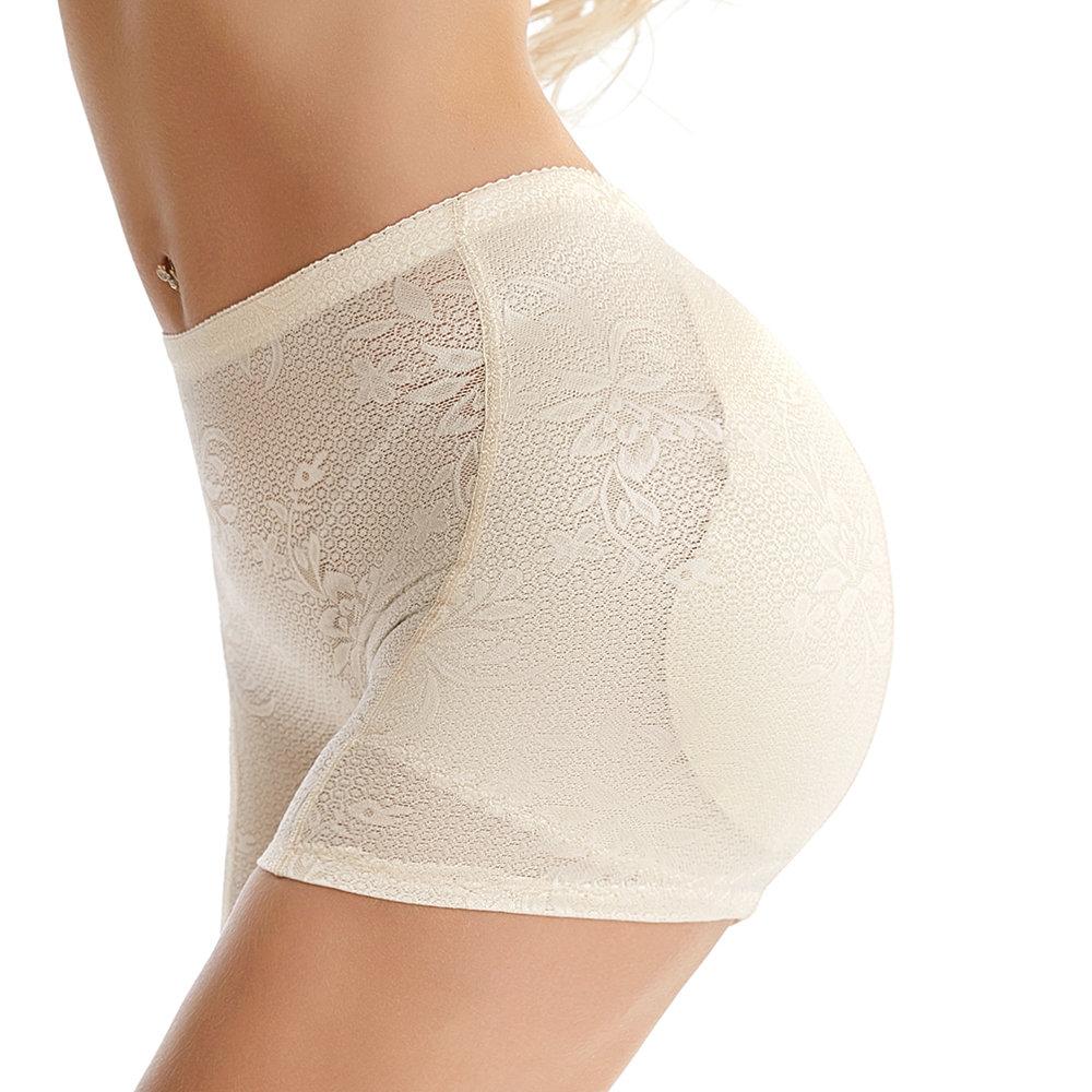 Sexy Mesh Butt Lifter Hip Padded Jacquard Shorts