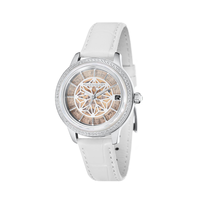 Thomas Earnshaw Women's Lady Kew Automatic ES-8064-04 Silver Leather Hand Wind Fashion Watch