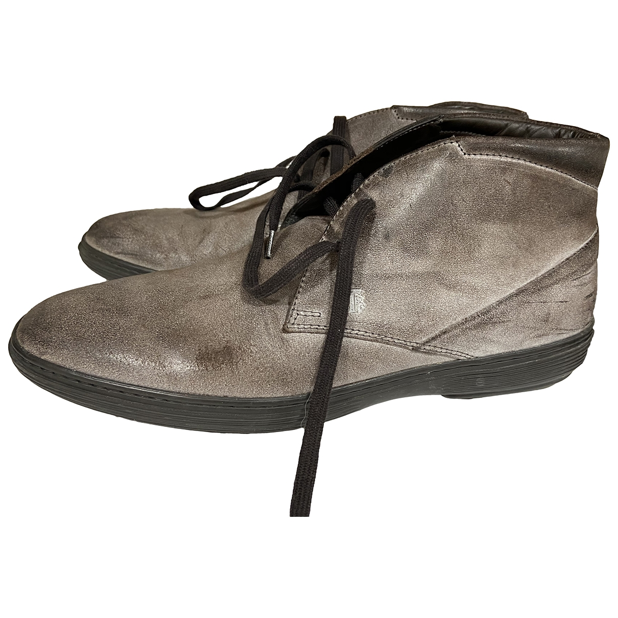 Tod's \N Grey Leather Boots for Men 7 UK