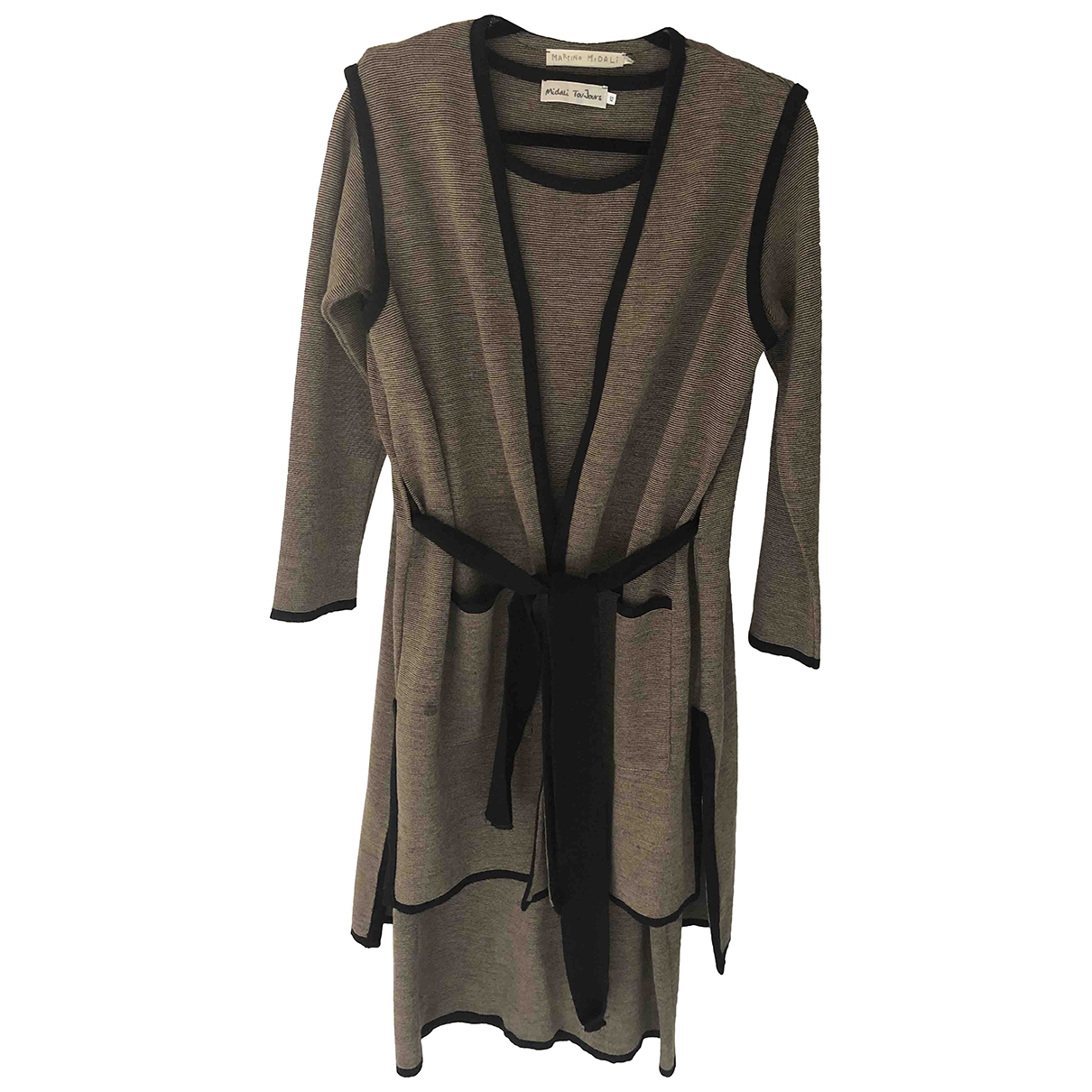 Non Signé / Unsigned \N Brown Wool dress for Women XS International
