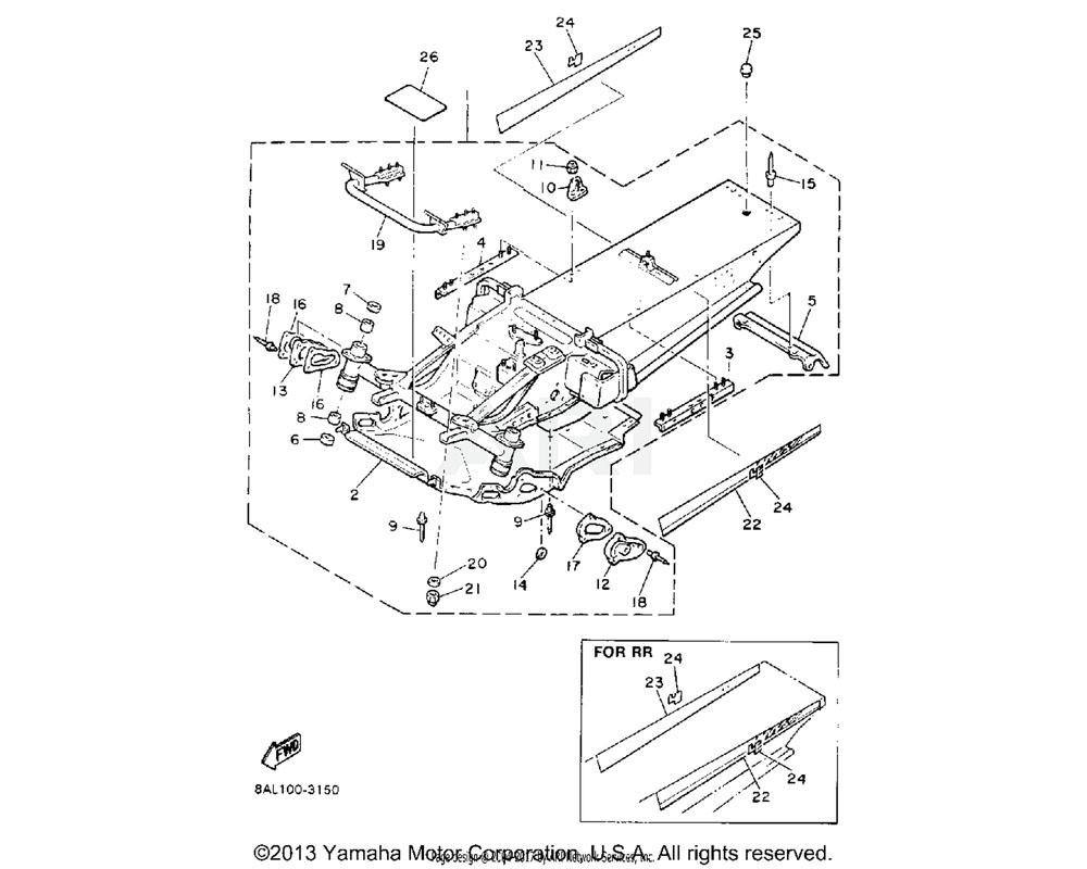 Yamaha OEM 89F-21910-01-00 FRAME COMP. | UR RR