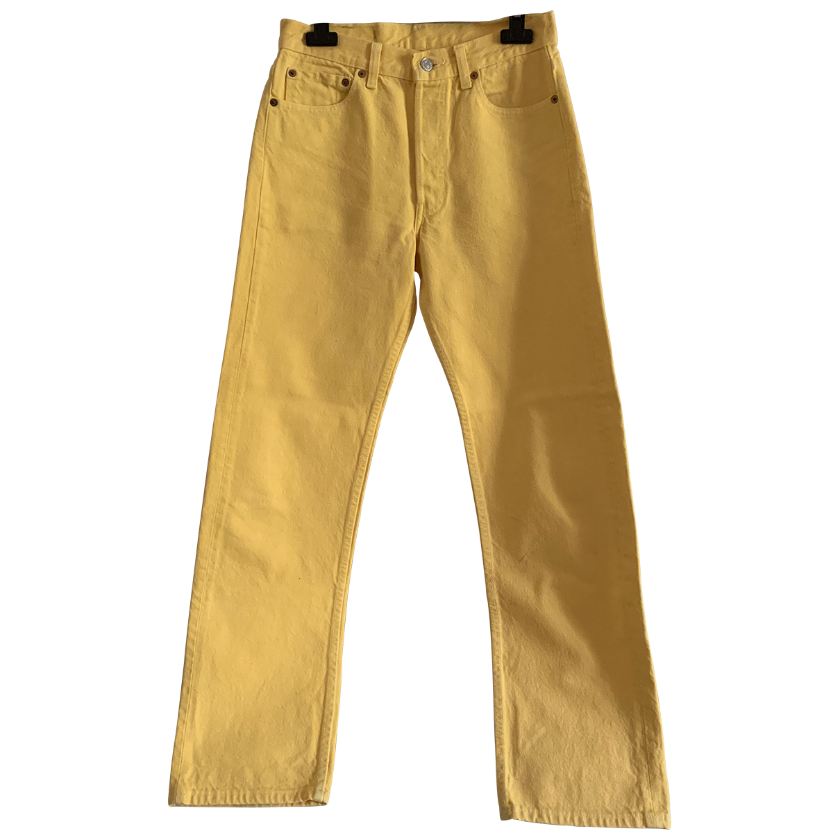 Levi's \N Yellow Cotton Trousers for Men 30 UK - US