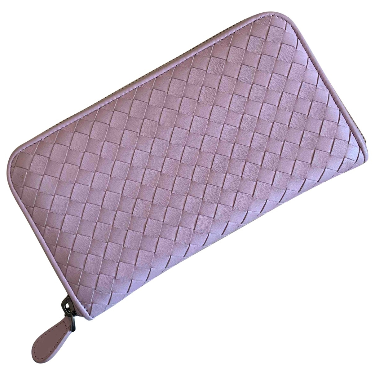 Bottega Veneta Intrecciato Pink Leather wallet for Women \N
