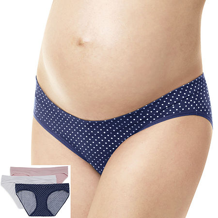 Playtex Maternity 3 Pack Knit Hipster Panty Pmvfhs, Small , Multiple Colors
