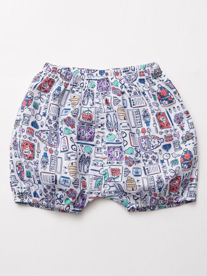Ericdress Cartoon Printed Elastics Flat Legs Baby Girls Shorts