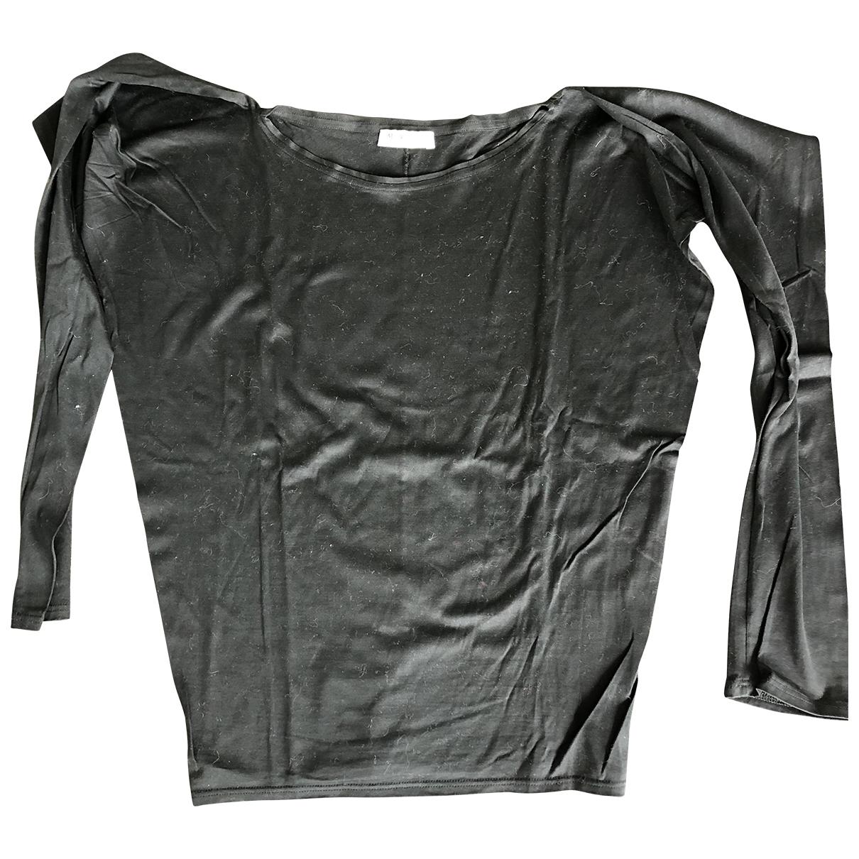 Yves Saint Laurent \N Black Cotton  top for Women 38 FR