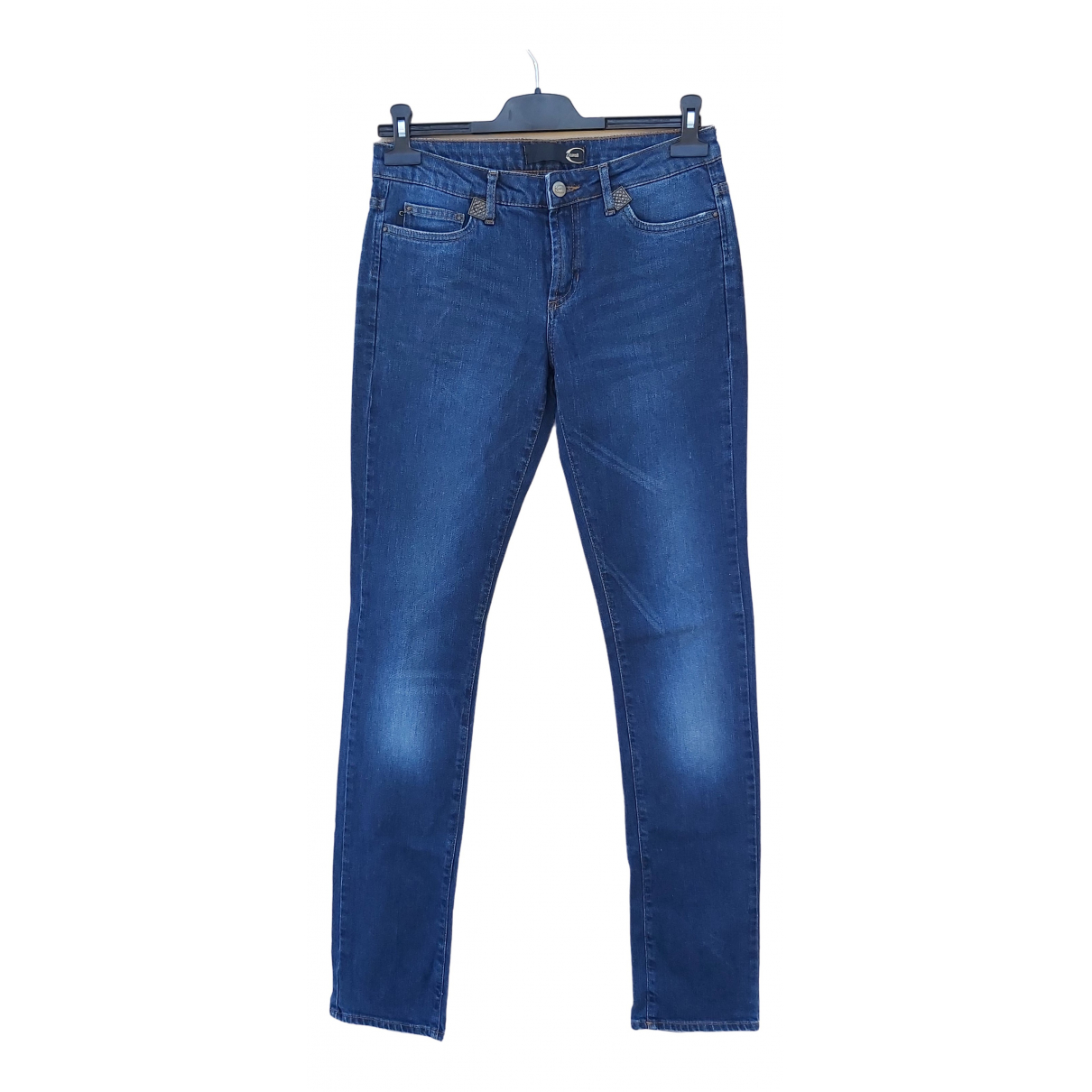 Just Cavalli \N Blue Cotton - elasthane Jeans for Women 38 FR
