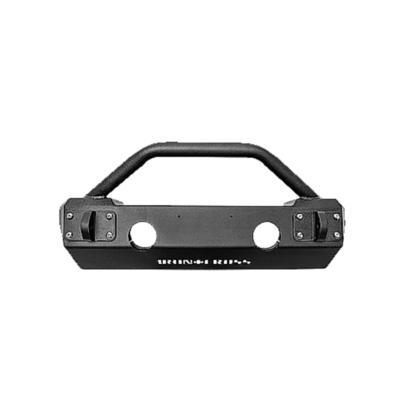 Iron Cross Automotive Stubby Front Bumper with Bar (Raw) - RAWGP-1200