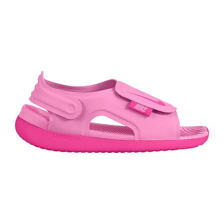 Nike Little Kid/Big Kid Girls Sunray Adjust 5 Strap Sandals, 12 Medium, Red