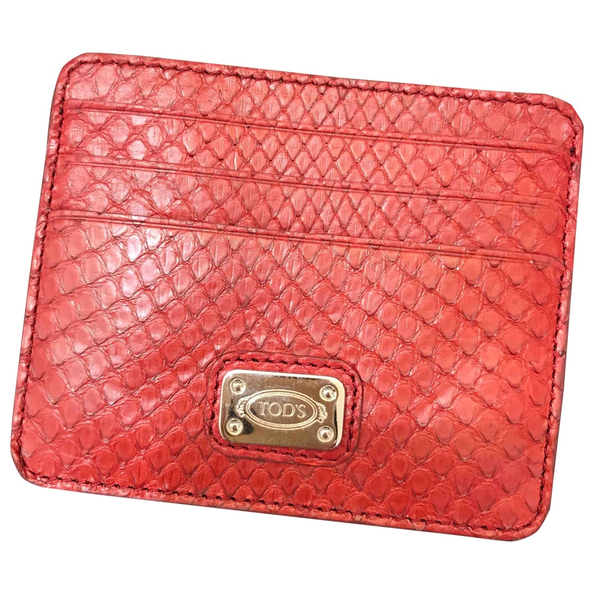 Tod's \N Red Leather Purses, wallet & cases for Women \N
