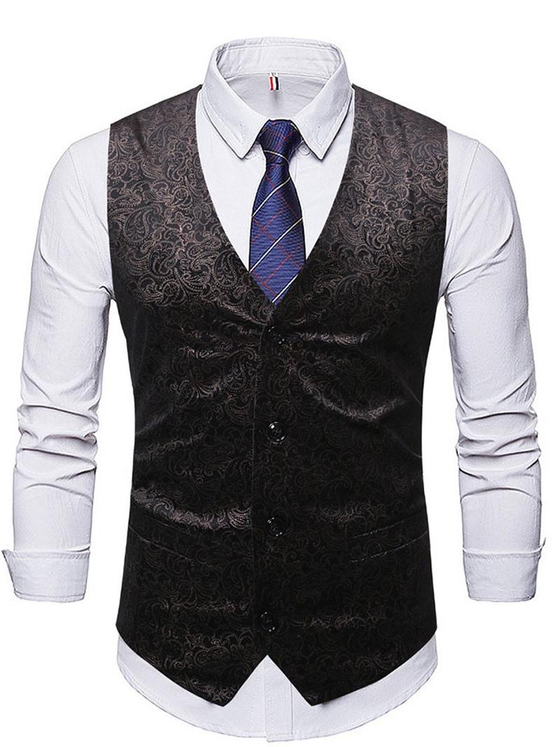 Ericdress Color Block Patchwork European Single-Breasted Men's Waistcoat