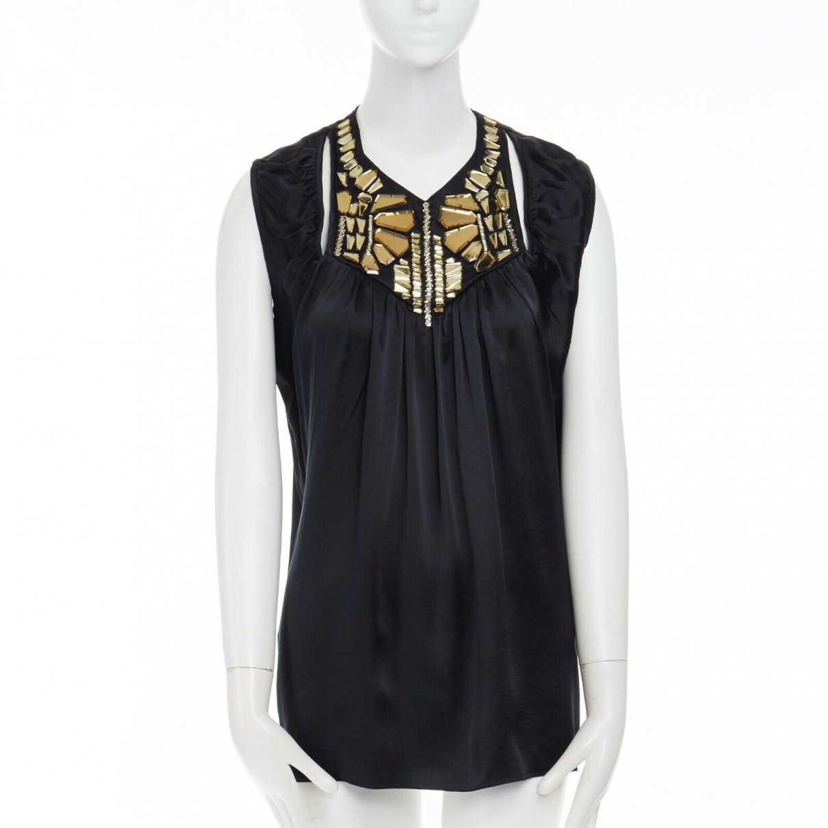 Givenchy \N Yellow Silk  top for Women 38 FR