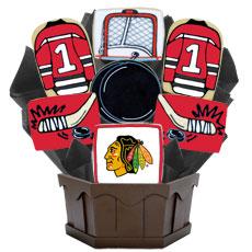 NHL Chicago Blackhawks Cookie Bouquet