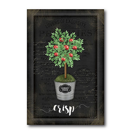 Courtside Market Apple Topiary Canvas Art, One Size , Multiple Colors