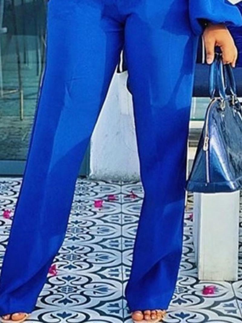 Ericdress Pleated Sexy Plain Straight Slim Jumpsuit