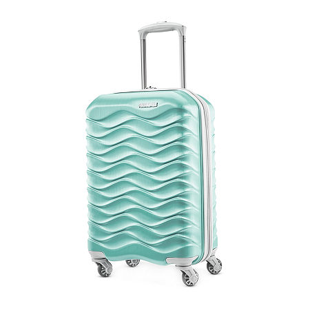 American Tourister Pirouette Nxt 21 Inch Hardside Lightweight Luggage, One Size , Green