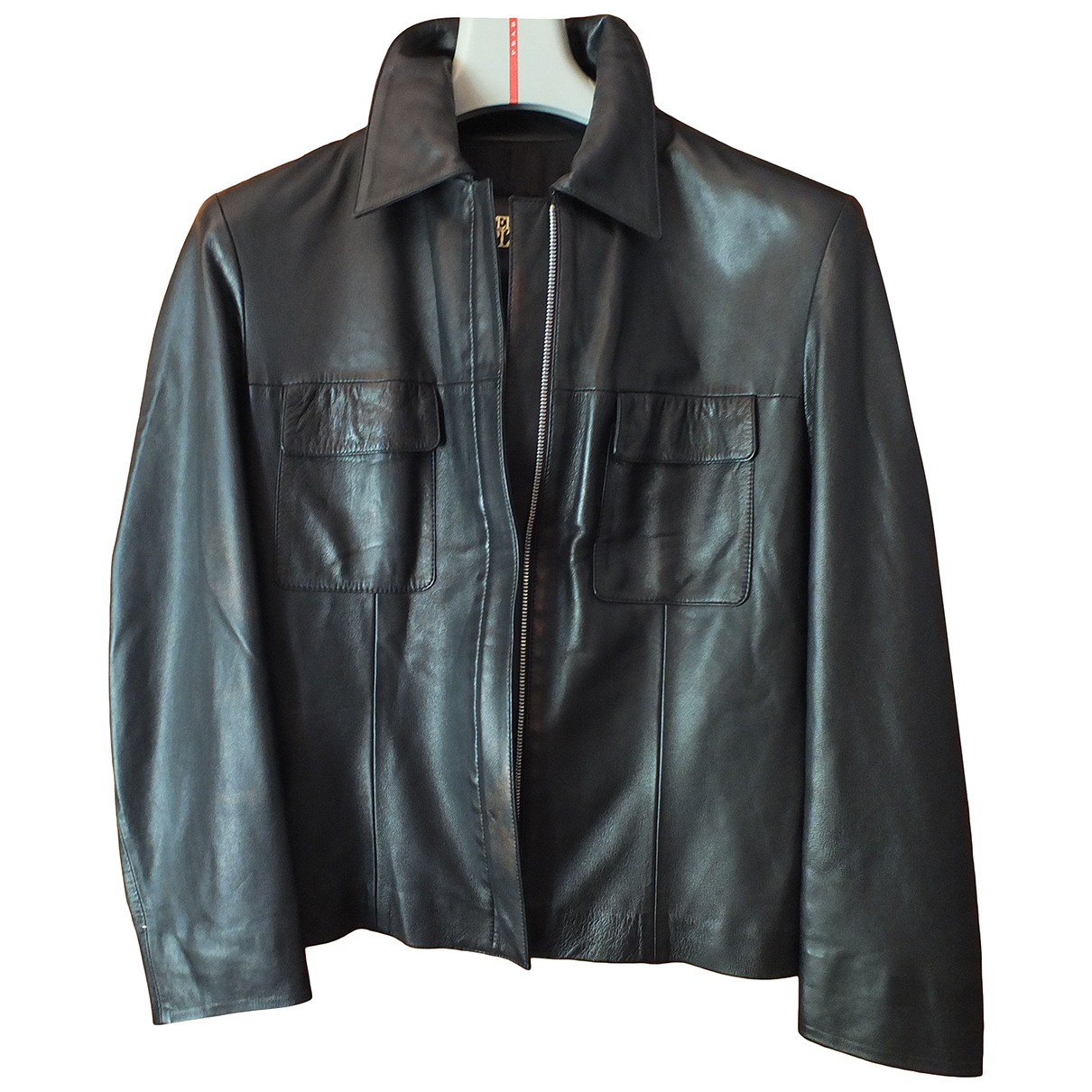 Autre Marque N Black Leather jacket for Women 40 FR