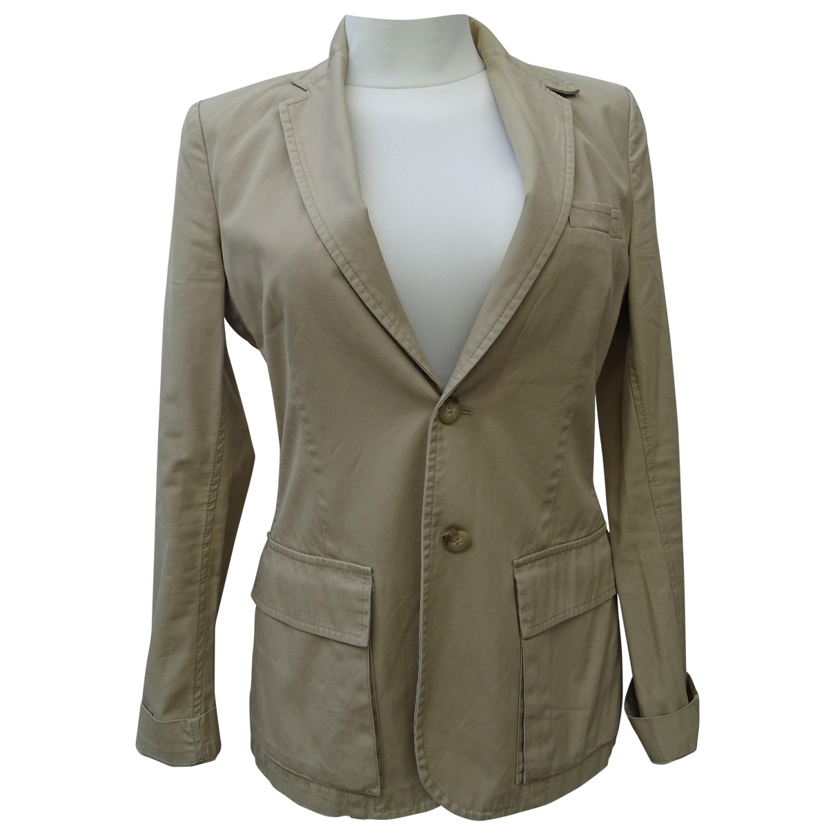 Ralph Lauren \N Beige Cotton jacket for Women 6 US