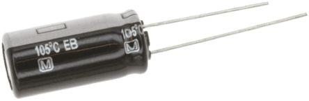 Panasonic 4.7μF Electrolytic Capacitor 63V dc, Through Hole - EEUEB1J4R7S (200)
