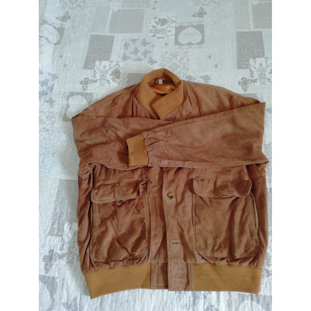 Non Signé / Unsigned \N Camel Leather jacket  for Men 54 IT