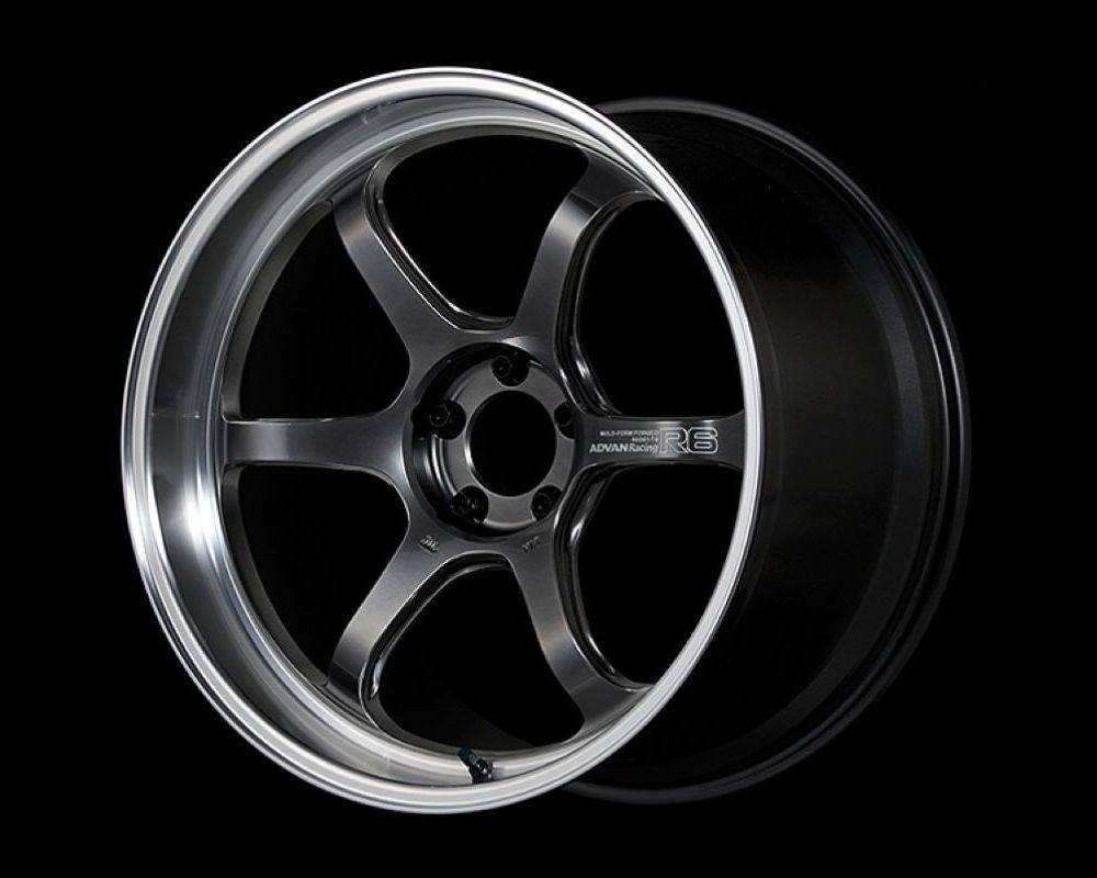 Advan R6 Wheel 20x9.5 5x114.3 35mm Machining & Racing Hyper Black