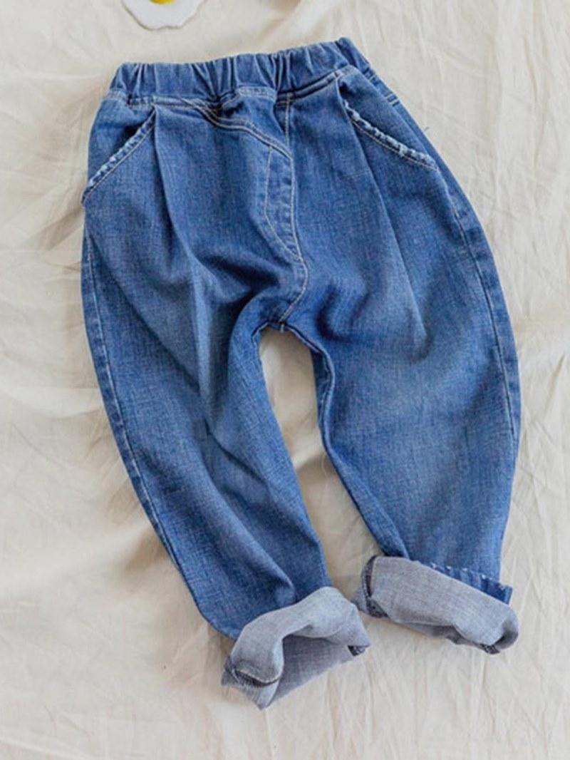 Ericdress Plain Loose Elastic Girl's Casual Jeans