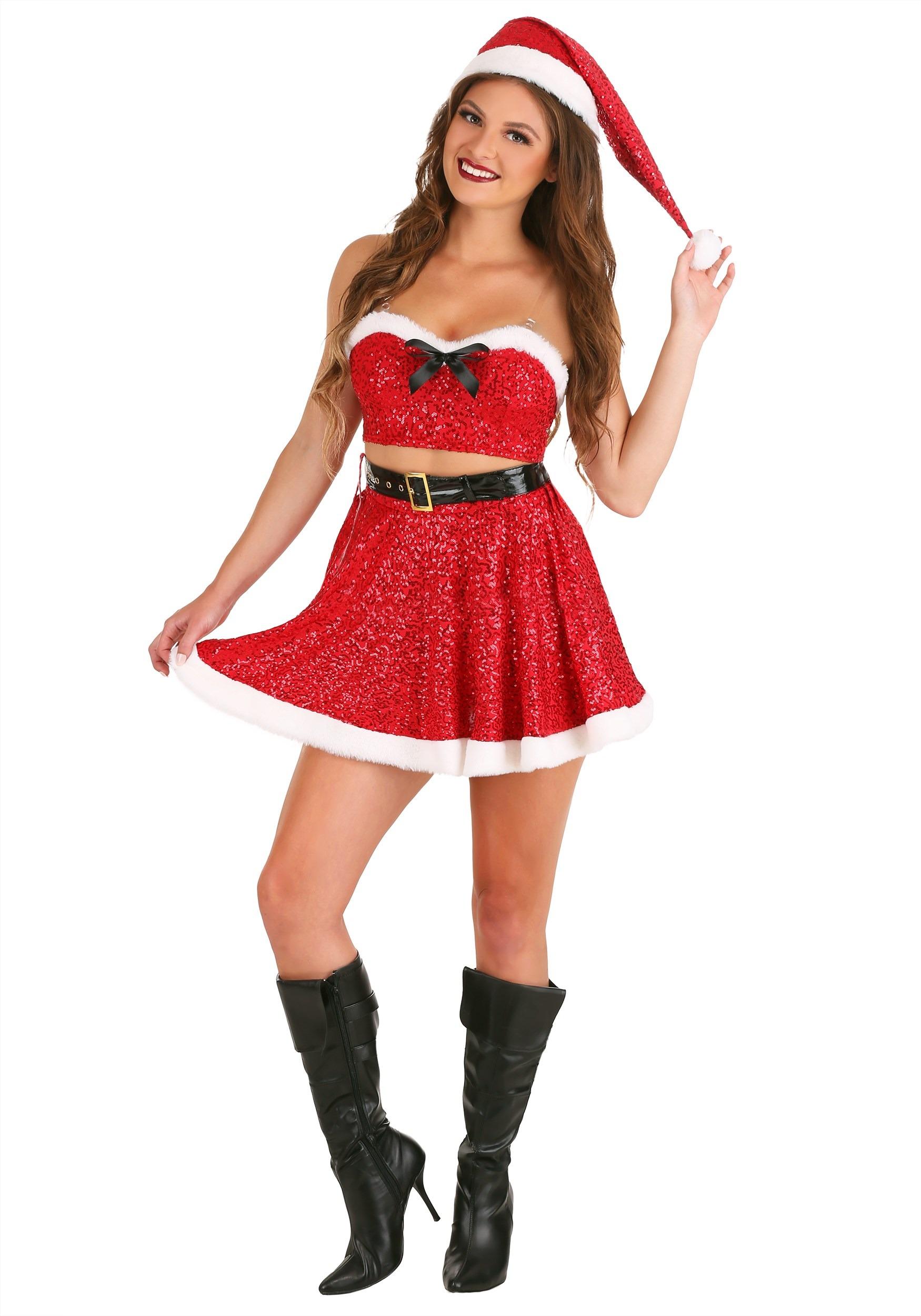 Sexy Sequin Santa Costume for Women