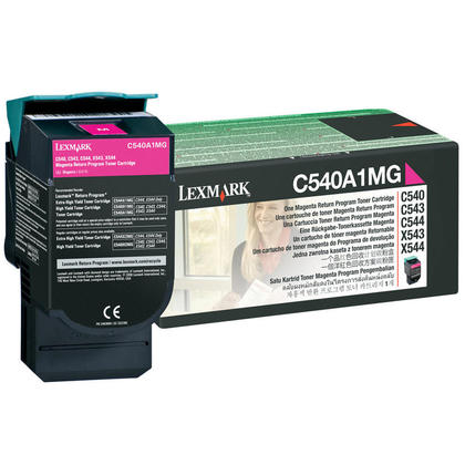 Lexmark C540A1MG cartouche de toner du programme retour originale magenta